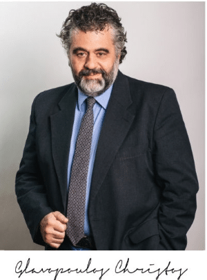 Christos Glavopoulos, the founder of Glavopoulos Loss Adjusters with a resolute look
